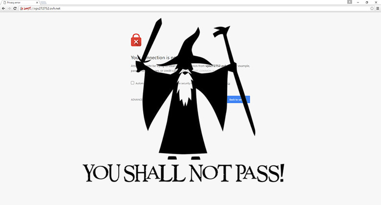 THOU SHALL NOT PASS MOTHERFUCKER SSL ALERT !