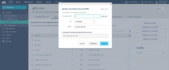 configdns5 - Configurer votre site Wordpress sur un serveur optimisé pour la vitesse